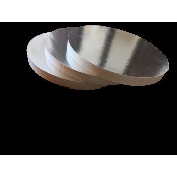 Podkład pod tort ze styroduru srebrna podkładka do żywności 34cm